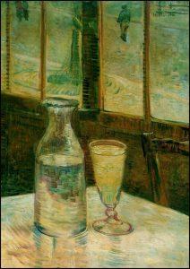 Nature morte avec Absinthe - Vincent Van Gogh (1887)